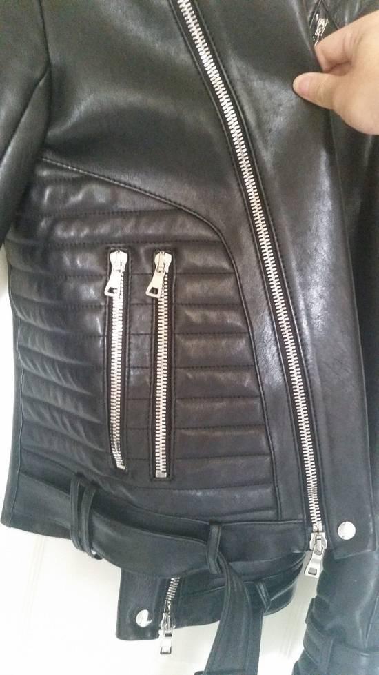 Balmain Black Lambskin Overlong Biker Perfecto Jacket EU48/US38 Size US M / EU 48-50 / 2 - 5