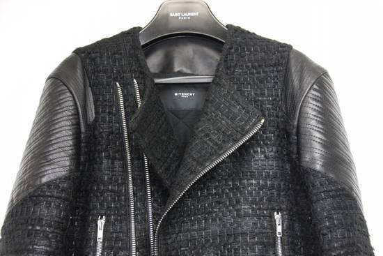 Givenchy $8k AW13 Givenchy Black Tweed & Leather Biker Jacket Size 48 Size US M / EU 48-50 / 2