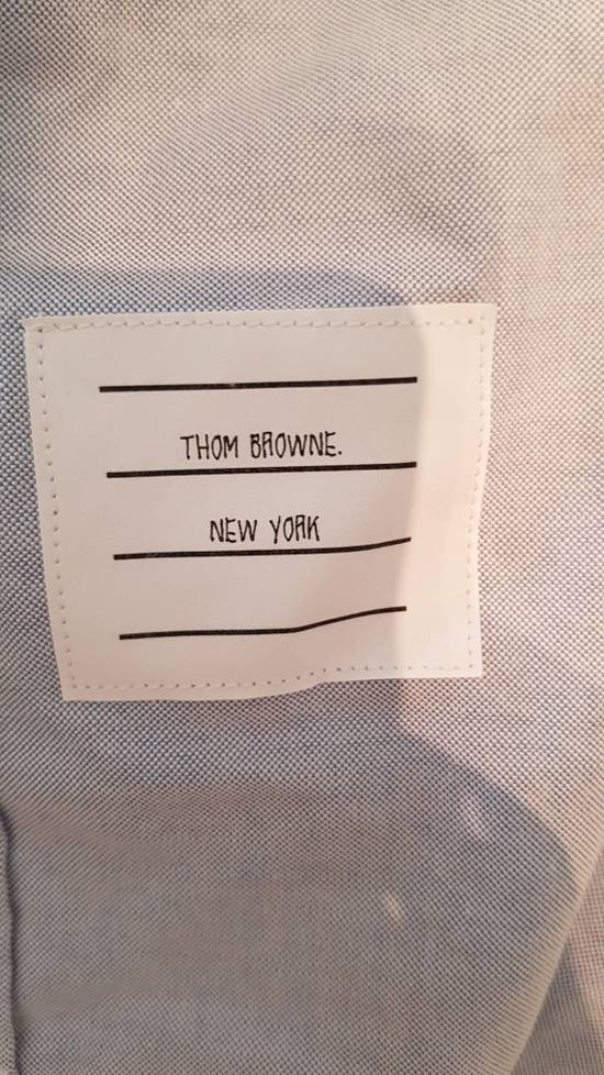 Thom Browne brand new blue shirt with cosgrain Size US XL / EU 56 / 4 - 4