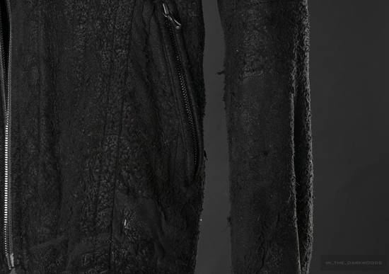 Julius = last drop = distressed lamb leather colarles jacket Size US M / EU 48-50 / 2 - 6