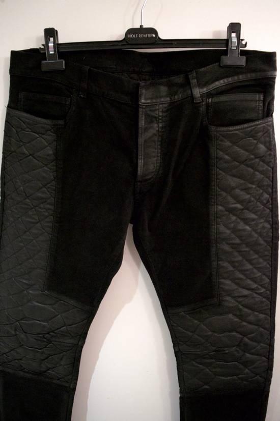 Balmain Rare Moleskin Ribbed Biker Trousers Size US 34 / EU 50