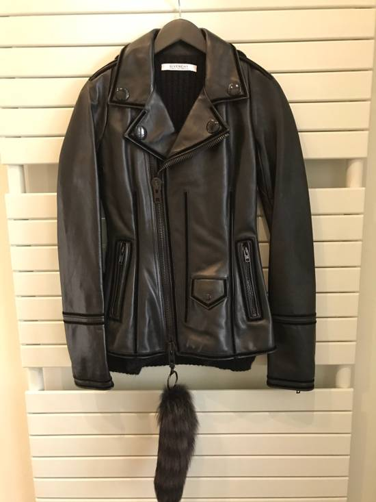 Givenchy Women Leather Biker Jacket Size US XXS / EU 40