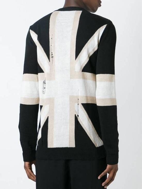 Balmain Union Jack Sweater beige/blk Size US XL / EU 56 / 4 - 17