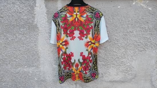 Givenchy $740 Givenchy Baby Blue Iris Floral Birds of Paradise Oversized T-shirt size XS Size US XS / EU 42 / 0 - 6