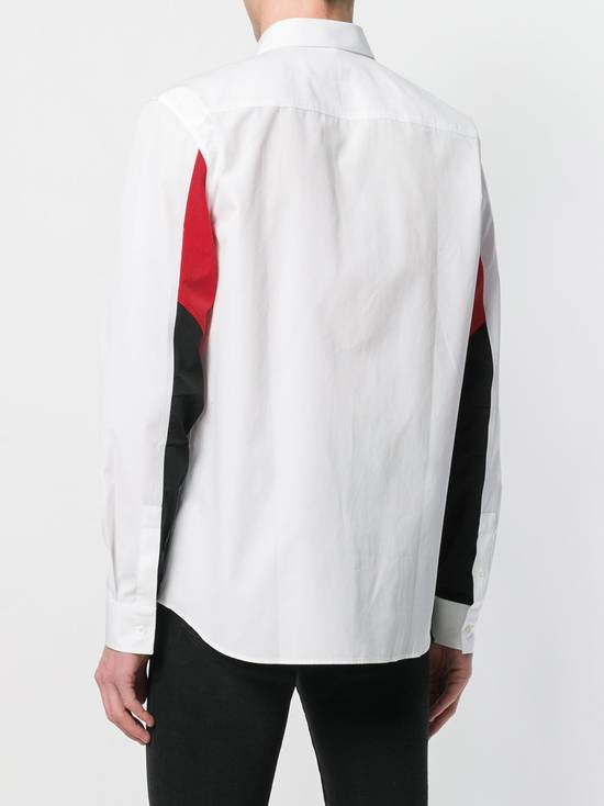 Givenchy $820 Givenchy White Colourblock Rottweiler Shark Men's Shirt size 44 (XL / XXL) Size US XXL / EU 58 / 5 - 3