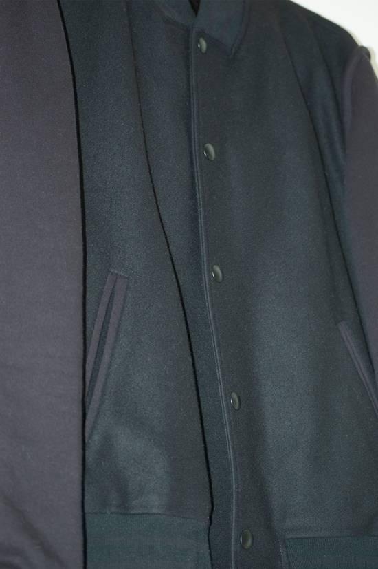 Givenchy Fw 11 Black Wool Blend Zip Sleeve Snap Baseball Bomber Jacket Size US L / EU 52-54 / 3 - 6