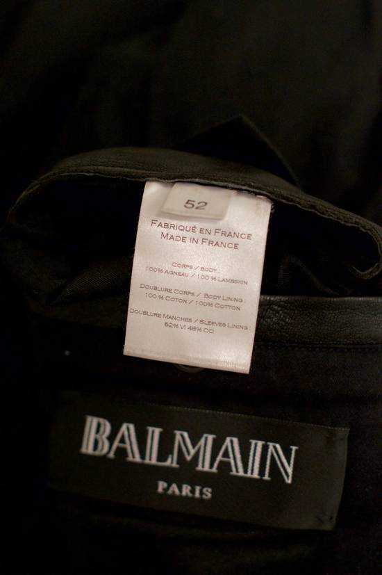 Balmain RARE! Lambskin Leather Biker Jacket Size US L / EU 52-54 / 3 - 7