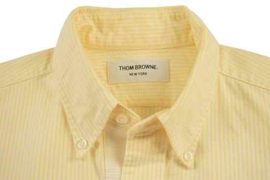 Thom Browne White Grossgrain, Yellow Stripe Oxford Size US L / EU 52-54 / 3 - 2