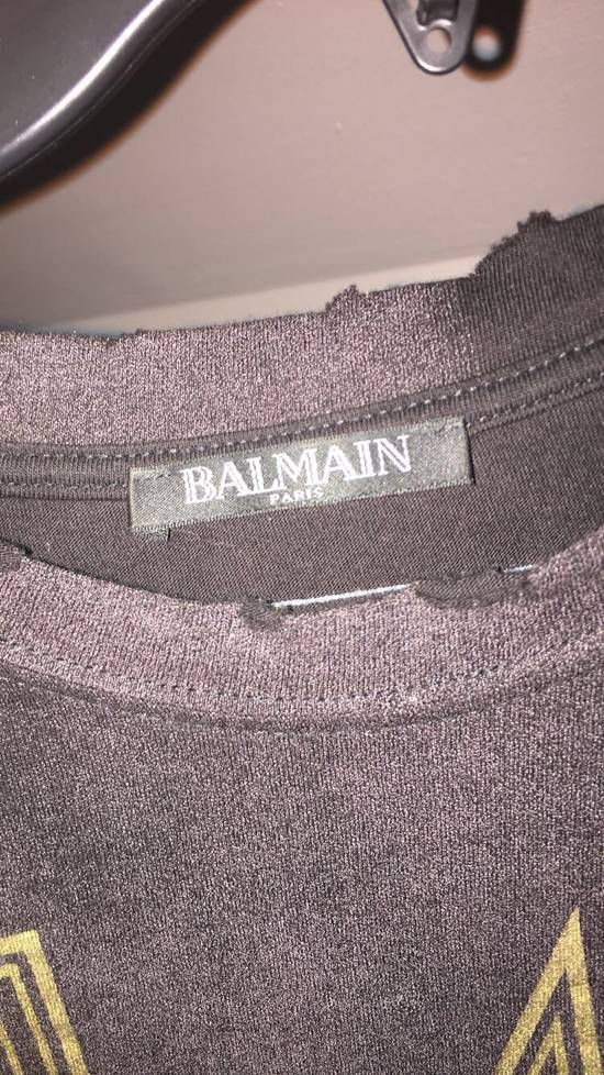 Balmain Distressed T Shirt Heat Size US L / EU 52-54 / 3 - 1