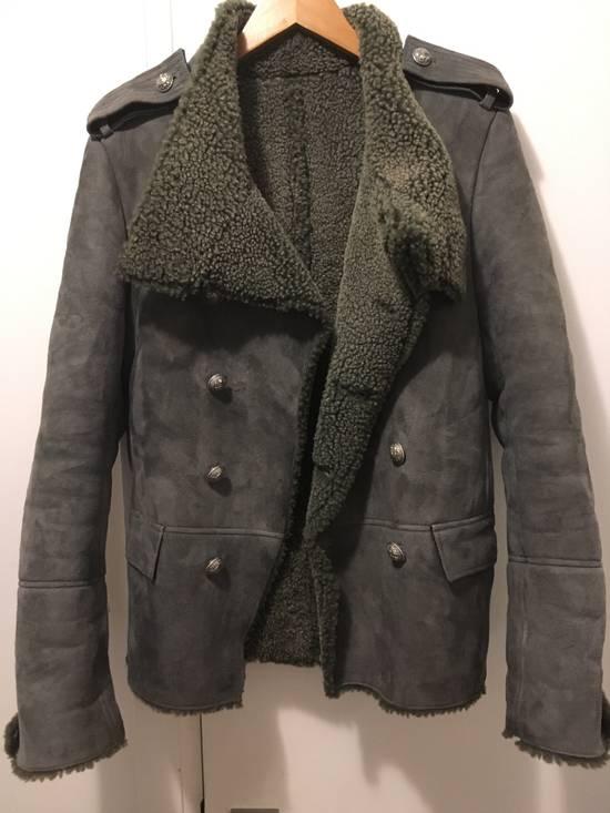 Balmain Shearling Military Coat Size US S / EU 44-46 / 1 - 1