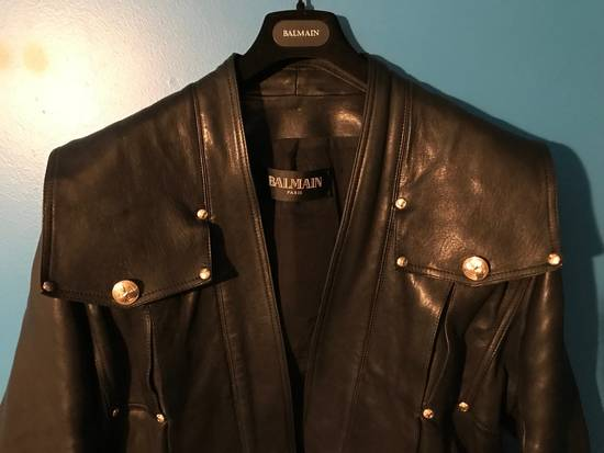 Balmain Lambskin Gold Button Detail Jacket Size US L / EU 52-54 / 3 - 4