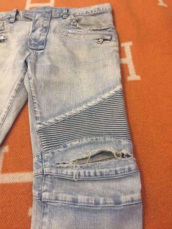 Balmain Classic knee ripped Biker Jeans Size US 31 - 2