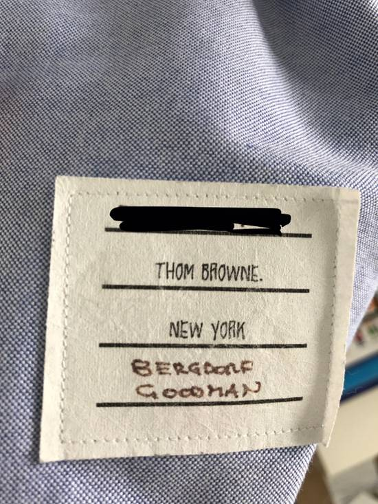 Thom Browne Blue Oxford Shirt Size US L / EU 52-54 / 3 - 1