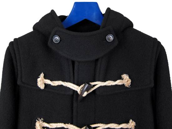 Balmain AW11 Black Hooded Duffel Coat sz. 44 Size US XS / EU 42 / 0 - 1