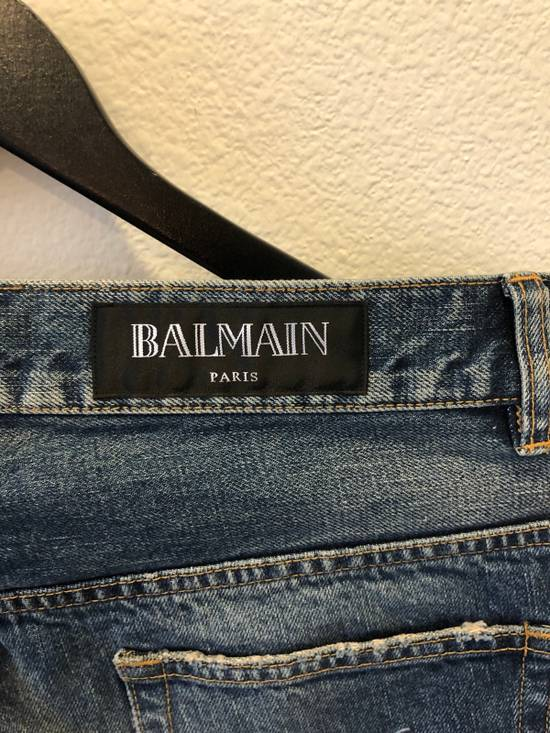 Balmain Distressed Jeans Blue Size US 31 - 7
