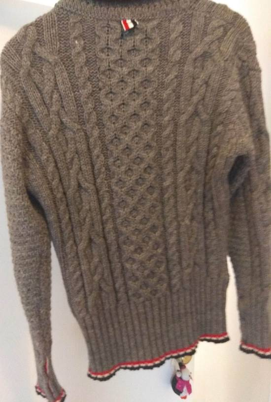 Thom Browne Thom Browne Grey Aran Roll Neck Knit size 3 Size US M / EU 48-50 / 2 - 5