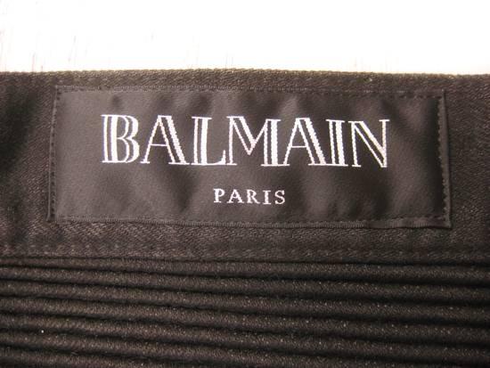 Balmain Classic Moto Jeans Made in Japan Style No. W4HT551C710W Black Coated Skinny Stretch Denim Biker Pants 32 x 32 Size US 32 / EU 48 - 20