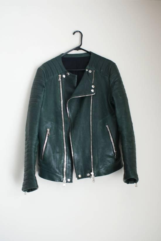 Balmain green leather jacket Size US XL / EU 56 / 4