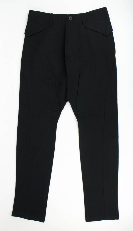 Julius 7 Black Cotton Blend Casual Trousers Pants Size 3/M Size US 34 / EU 50 - 2