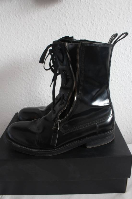 Balmain FW10 Campaign Patent Leather Ranger Boots Decarnin Size US 11 / EU 44 - 5