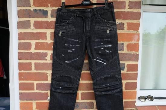Balmain Black Distressed Biker Jeans Size US 29 - 4