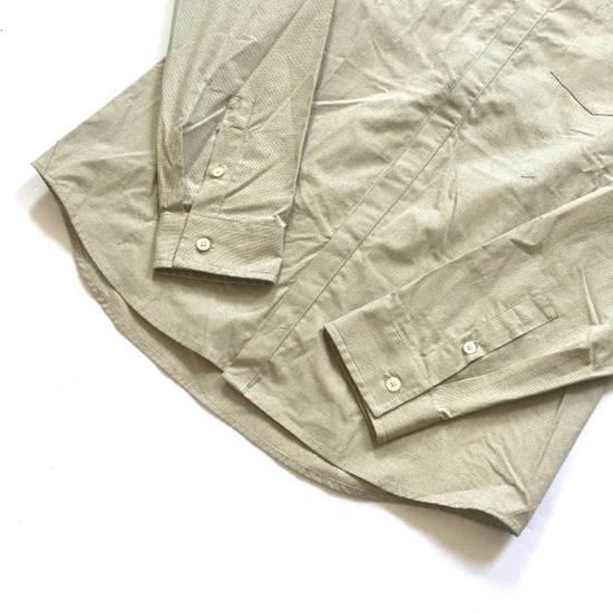 Balmain Tan Band Collar Metal Logo Shirt NWT Size US M / EU 48-50 / 2 - 8
