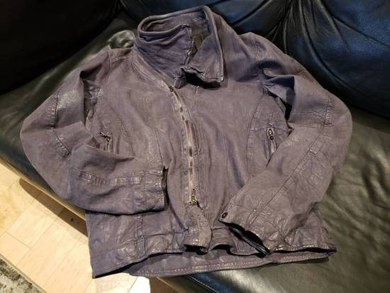 Julius AW12 Moldable Jut Neck Leather Jacket NEW Size US L / EU 52-54 / 3