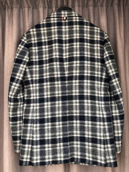 Thom Browne Navy/Grey Plaid Sportcoat Jacket Size 1 Size 38R - 1