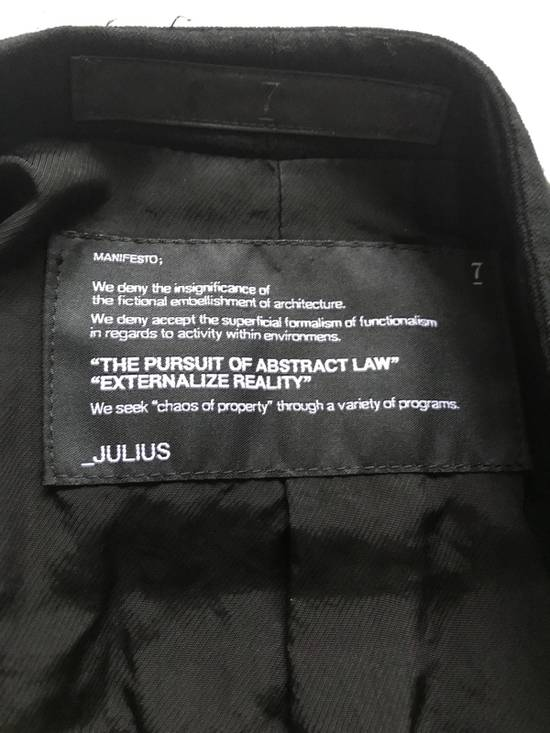 Julius SS12 layered front panel coat Size US M / EU 48-50 / 2 - 9