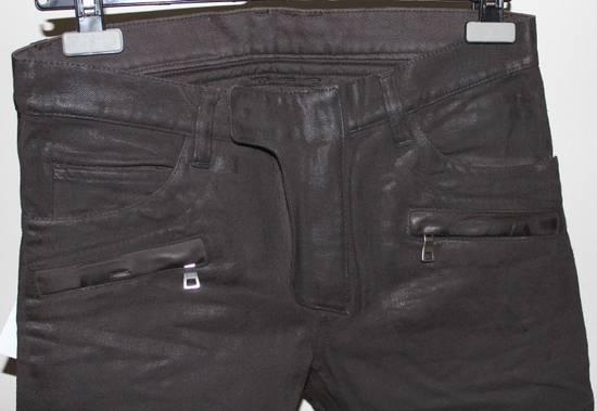 Balmain Balmain Waxed Moto Biker Jeans Leather Trim Size 29 BNWT Dark Brown Denim $2,295 Size US 29 - 1