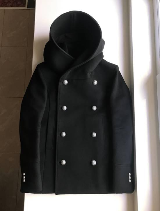 Balmain Balmain Black Wool Hooded Peacoat Size US L / EU 52-54 / 3