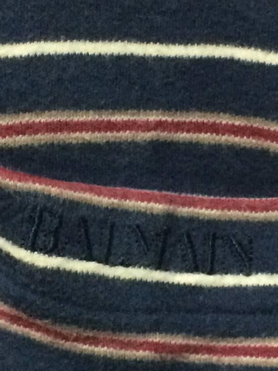 Balmain Stripe L/Sleeve Balmain Pocket T's Large Made in Japan. Size US L / EU 52-54 / 3 - 3