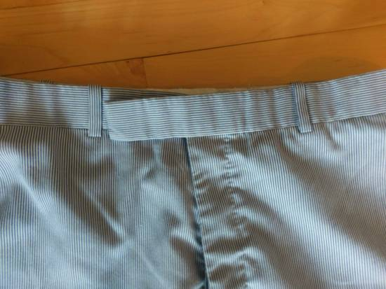 Thom Browne Thom Browne White-Blue Striped Cotton Pants - 2004 - Made in New York 32-33 Waist Size US 33 - 5
