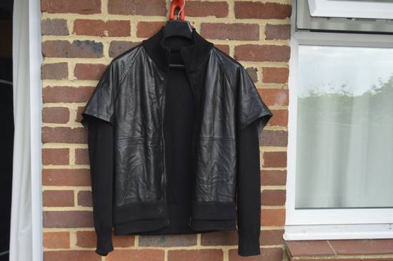 Givenchy Leather and Wool Zipped Jacket Size US M / EU 48-50 / 2