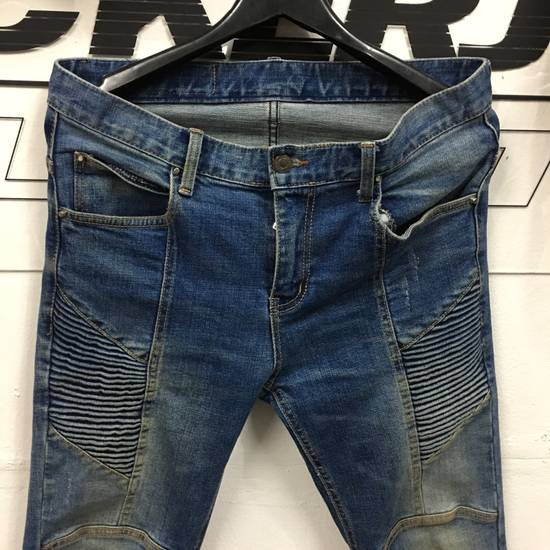 Balmain Balmain Biker Skinny Denim Pants Size US 34 / EU 50 - 4