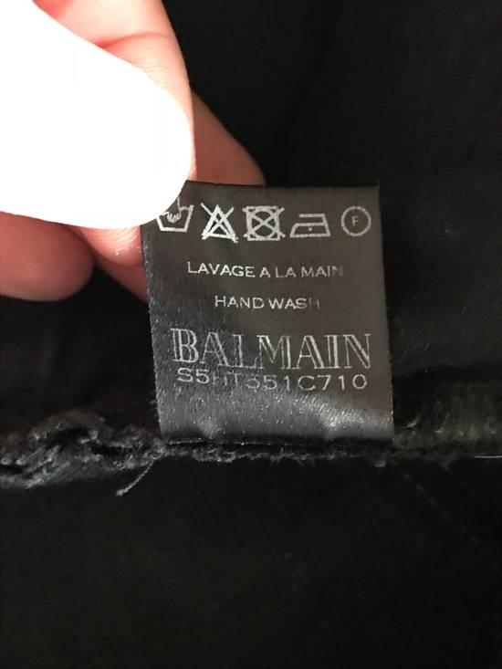 Balmain Black Biker Balmain Jeans Grey/Charcoal Washed Denim Size US 32 / EU 48 - 7