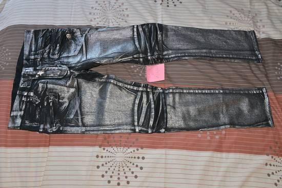 Balmain Silver stretch cropped pants Size US 33 - 10