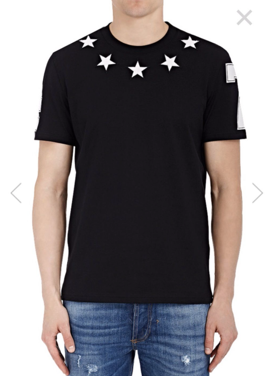 Givenchy Columbian-Fit Star-Appliqué T-Shirt, Black Size US M / EU 48-50 / 2 - 2