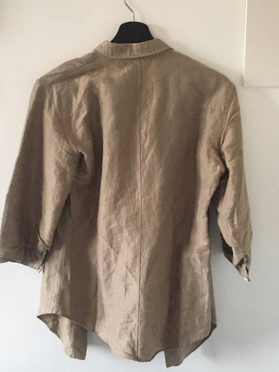 Julius 3/4 Sleeve Brown Button Up Shirt Size US XS / EU 42 / 0 - 1