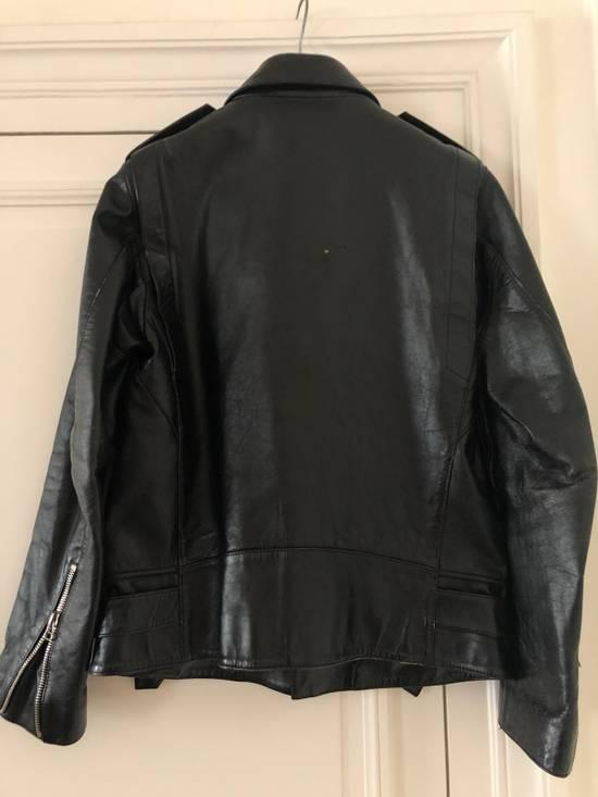 Balmain Black Horse Leather Double Rider Jacket Size US L / EU 52-54 / 3 - 4