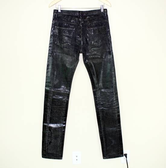 Dior Dior Homme FW04 Black Waxed 19cm Denim Jeans Size US 29 - 4