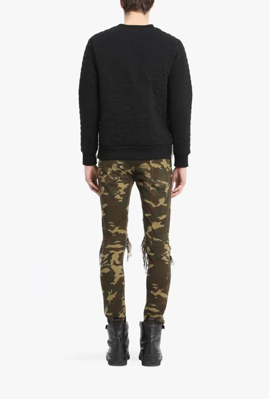 Balmain Size 36 - Heavily Distressed Camo Biker Jeans - FW17 - RARE Size US 36 / EU 52 - 13