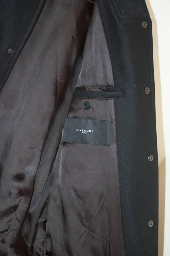 Givenchy Fw 11 Black Wool Blend Zip Sleeve Snap Baseball Bomber Jacket Size US L / EU 52-54 / 3 - 7