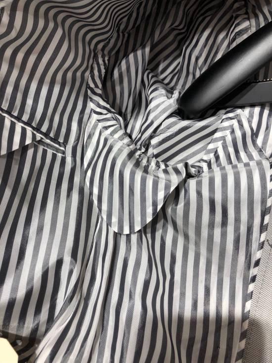 Thom Browne THOM BROWNE CLASSIC BLAZER IN GRAY/WHITE ANCHOR PINSTRIPE Size 40R - 8