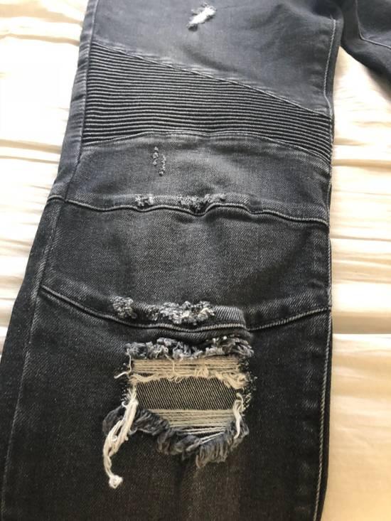 Balmain Black Balmain Biker Distressed Jeans Size US 32 / EU 48 - 4