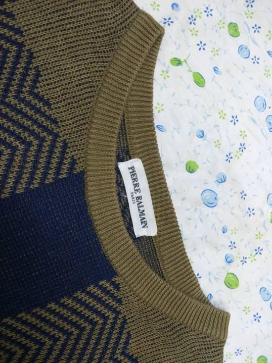Balmain Pierre Balmain Paris Knitwear Spellout Vintage Size US L / EU 52-54 / 3 - 2
