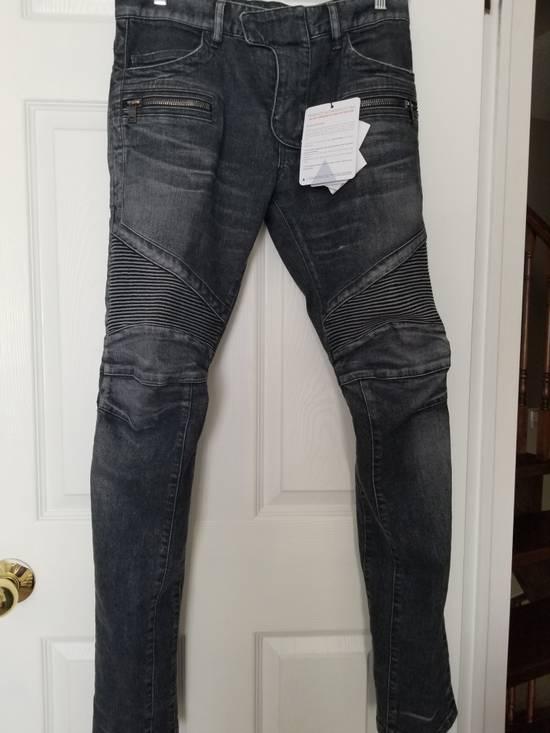 Balmain Balmain Biker Grey Washed Jeans Size 29 Size US 29 - 1