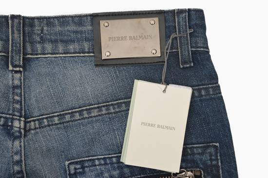 Balmain Coated Blue Moto jeans Size US 29 - 4