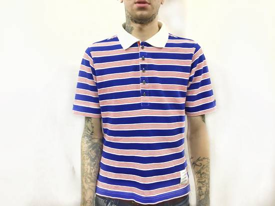 Thom Browne THOM BROWNE Red/White/Blue Striped Polo Size US XS / EU 42 / 0