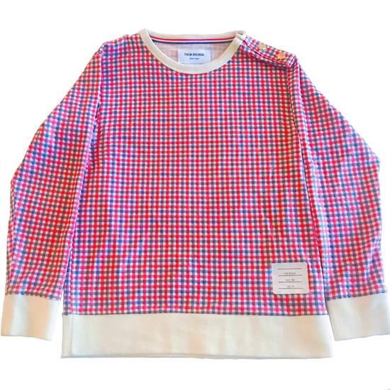 Thom Browne Thom Browne Plaid Pullover Shoulder Vent Size US XXS / EU 40